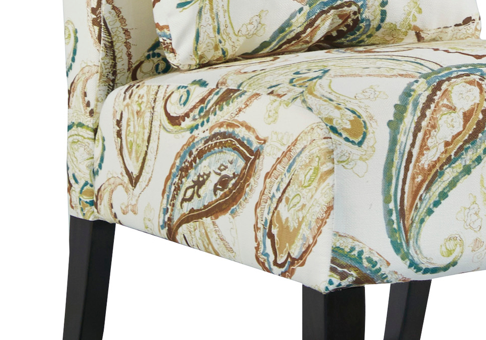 Annora Paisley Accent Chair Local Overstock Warehouse