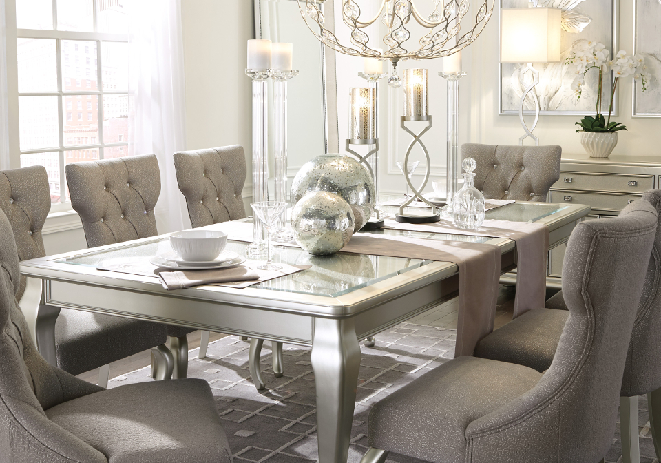 Dining Room Set With Extension coralayne dining room extension table | local overstock warehouse