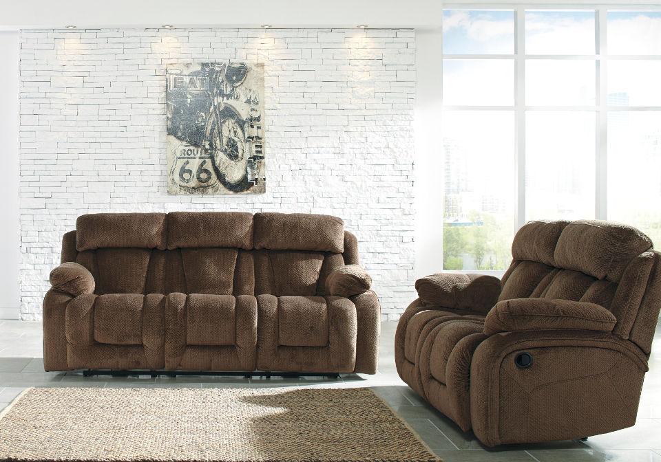 Stricklin Chocolate Reclining Sofa Set