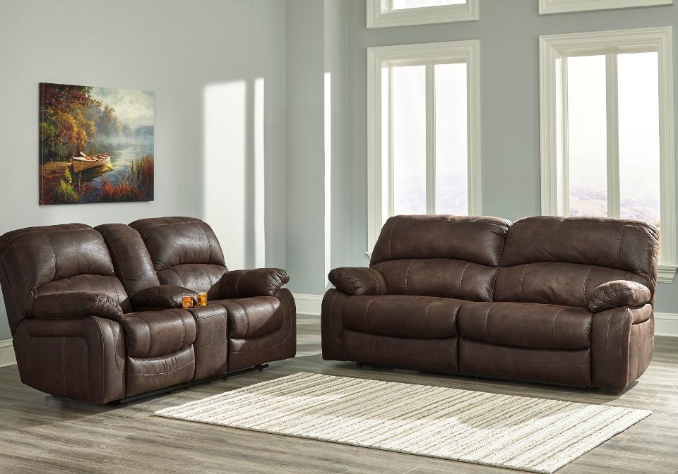 Zavier Truffle 2 Seat Reclining Sofa Set | Local Overstock Warehouse ...