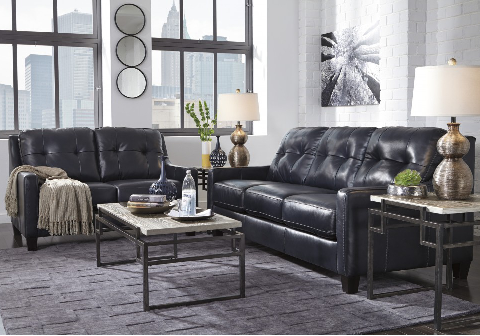 O\'Kean Navy Sofa Set | Local Overstock Warehouse | Online Furniture ...