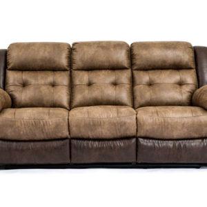 Wonderful Hudson Bonanza Silt/Bonanza Sable Reclining Sofa