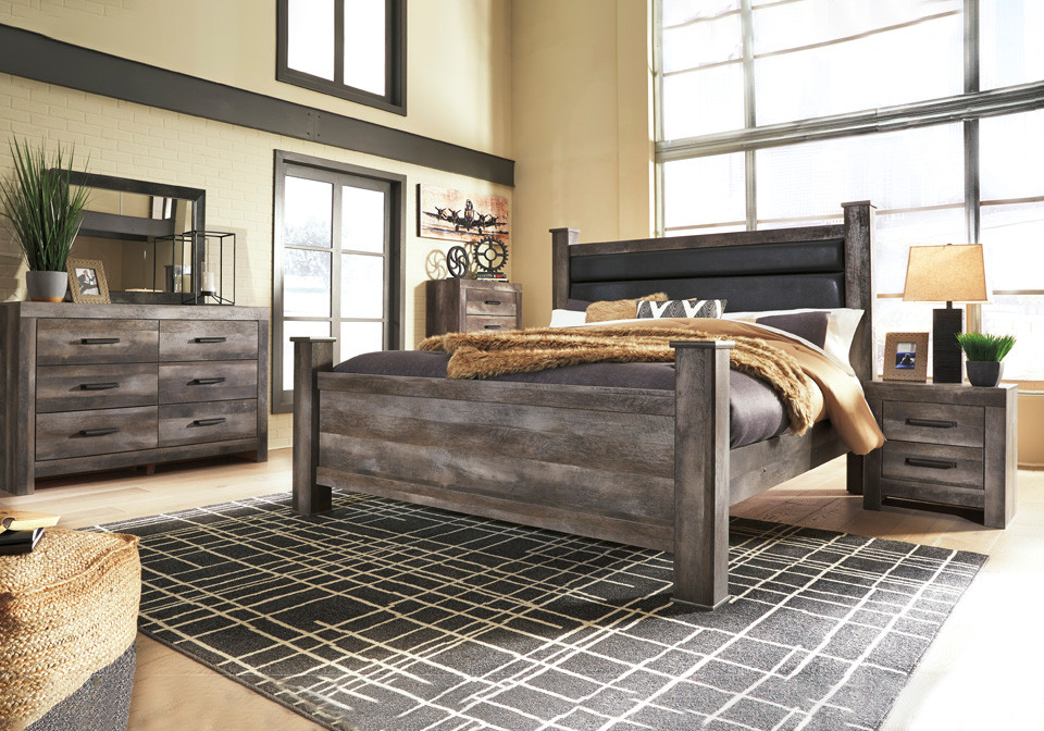 Wynnlow Gray King Poster Bedroom Set Local Overstock Warehouse