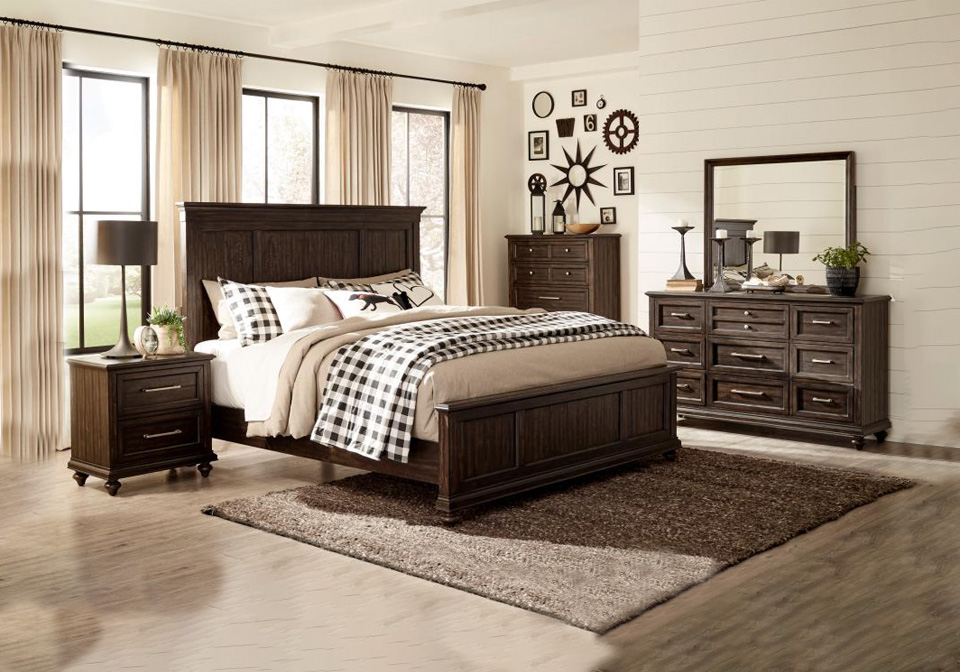 Campbell Brown King Bedroom Set Local Overstock Warehouse
